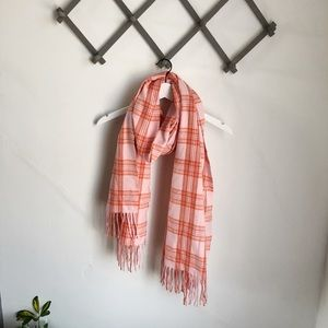 Urban Outfitters Pink Plaid Scarf